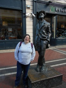 Me and the James Joyce statue