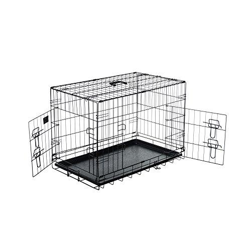 Pet Trex 2191 30 Inch Dog Crate Double Door Folding Pet