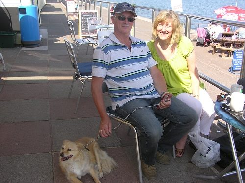 Jill and Alan Hermitage with Arthur - National Dog Adoption Month story