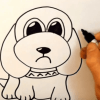 Learn to Draw a Cartoon Dog in Just 120 Seconds