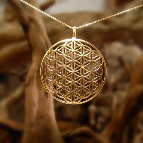 Flower Of Life Pendant - Gold