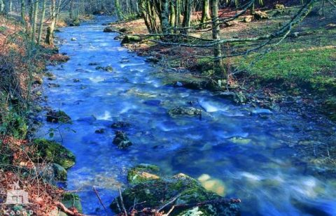 el río Arga llega al embalse de Eugui, que da de beber a Pamplona, recorre Navarra de Norte a Sur hasta encontrarse con el río Aragón en la muga de Funes, Villafranca y Milagro donde hacen al Ebro varón
