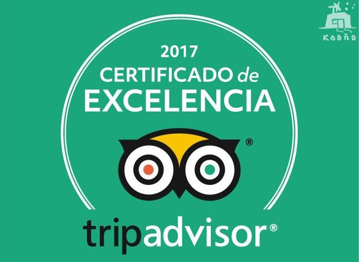 certificado excelencia de Trip advaisor