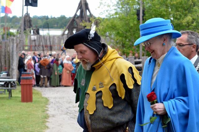 Dronning Margrethe og Kåre Johannessen