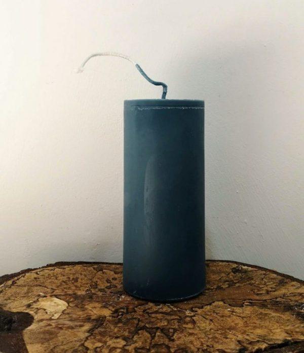 stompkaars koolzaadwas Ø 6.5 x 15 cm kalk blauw