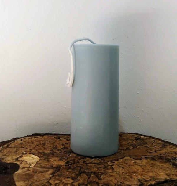 stompkaars koolzaadwas Ø 6.5 x 15 cm grijs