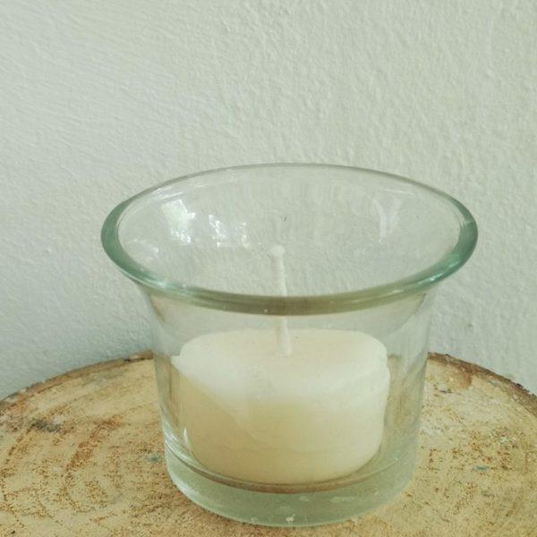 waxinelicht glaasje gebogen rand