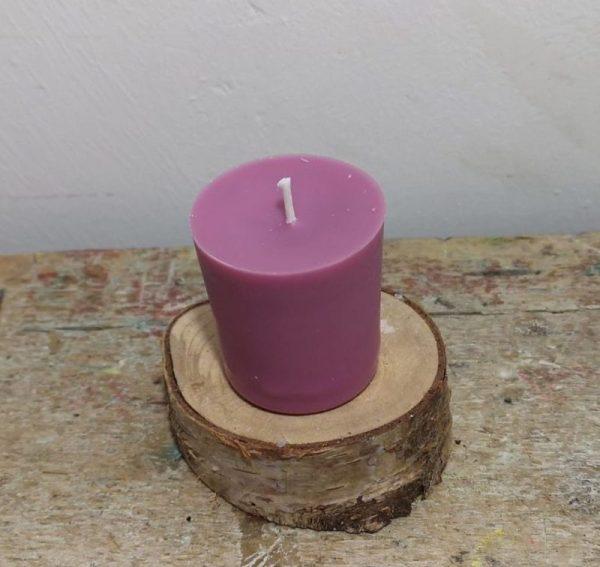 Chakra of votief kaarsje koolzaadwas Ø 3.5 cm x 4 cm, lila