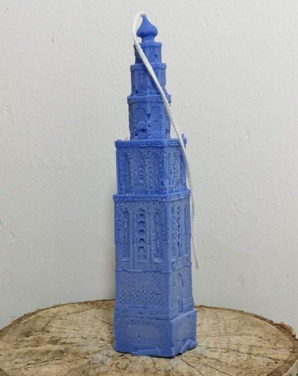 Martinitoren kaars koolzaadwas, ultramarijn blauw