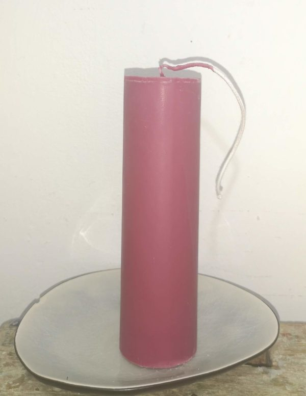 Druipkaars koolzaadwas Ø 4 cm x 15 cm Frans lak rood