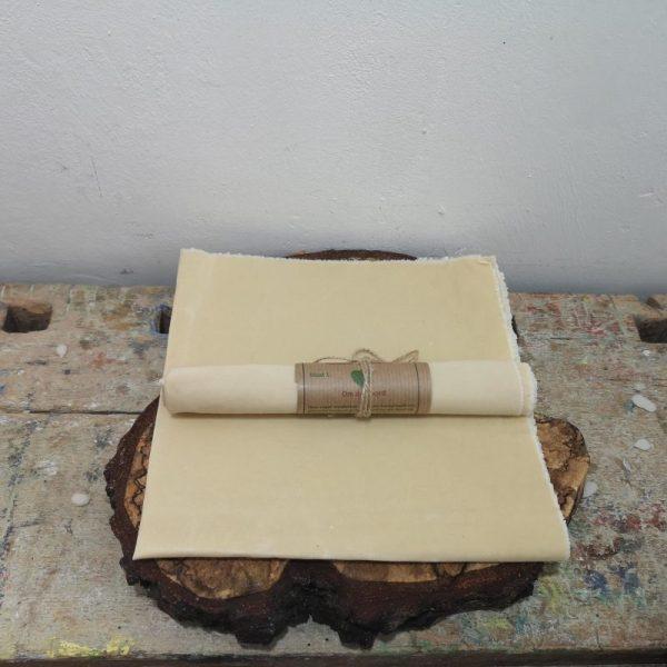 Wasdoek ongebleekt katoen, 35 cm x 35 cm.