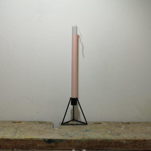 Tafelkaars koolzaadwas, ø 2 cm x 30 cm, licht roze