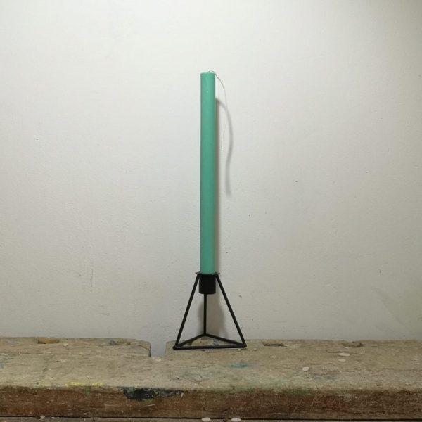 Tafelkaars koolzaadwas, ø 2 cm x 30 cm, zee groen