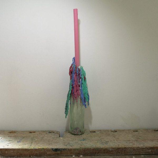Druipkaars koolzaadwas, ø 2 cm x 30 cm, violet