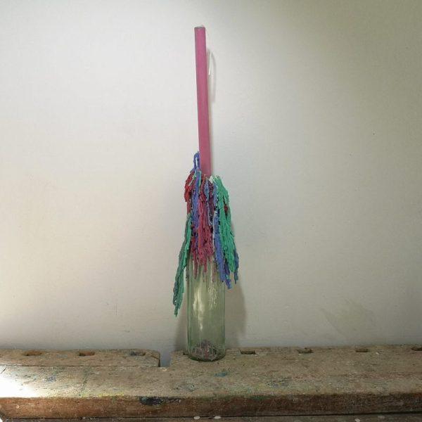 Druipkaars koolzaadwas, ø 2 cm x 30 cm, roze