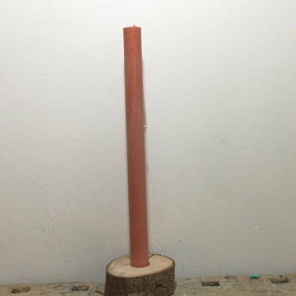 Druipkaars koolzaadwas ø 3 cm x 40 cm, bruin