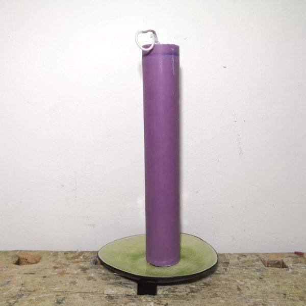 Druipkaars koolzaadwas ø 4 x 25 cm. paars