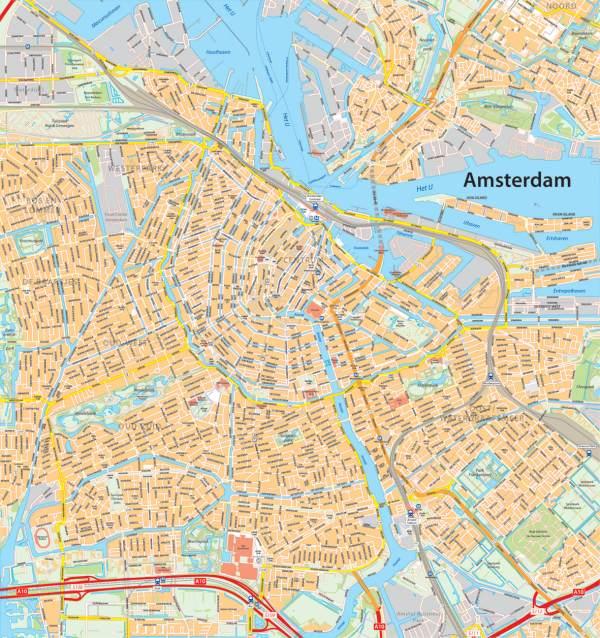 digitale plattegrond Amsterdam Centrum