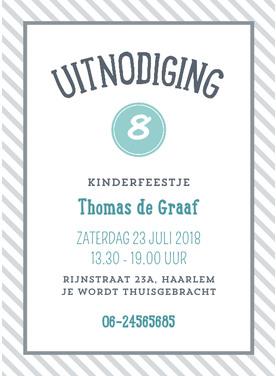 kaartjes uitnodiging kinderfeestje