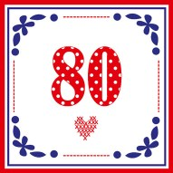 80 jaar kaartje