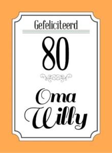 Tekst kaartje 80 jaar