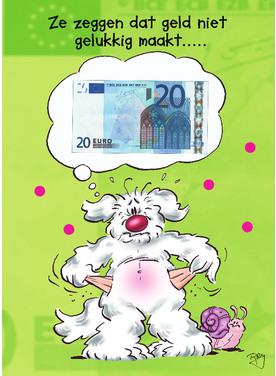 Tekst kaart met geld