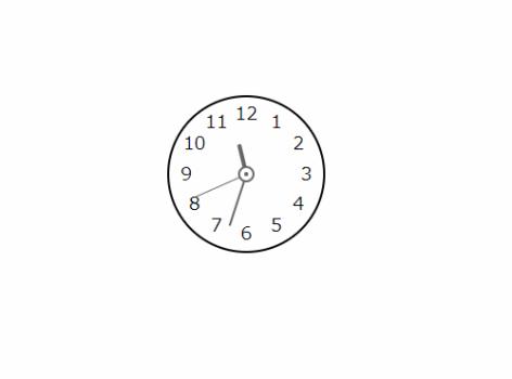 円形時計コンポーネントを「vue-clock」で実装する