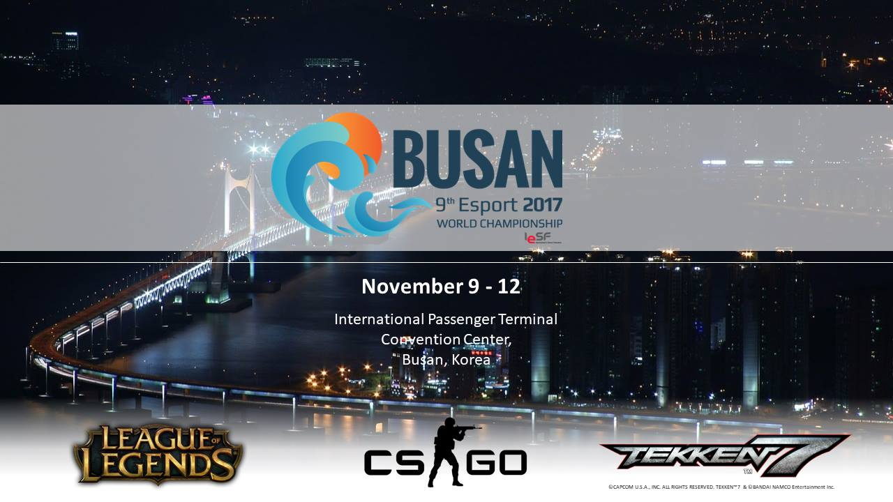 9th Esport 2017 World Championship di Busan