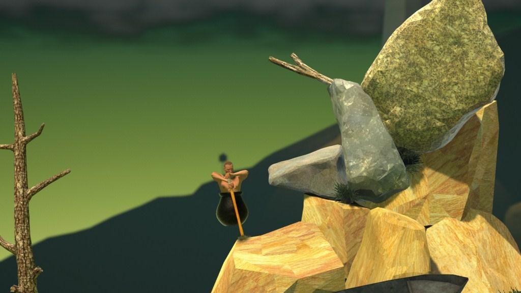 Mendaki dalam Getting Over It With Bennett Foddy