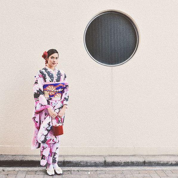 Raisa Pakai Kimono
