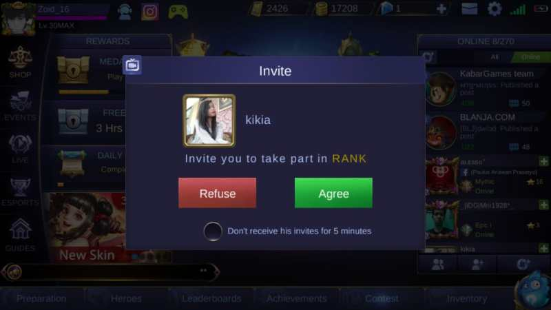 7 Waktu Terlarang Push Rank di Mobile Legends