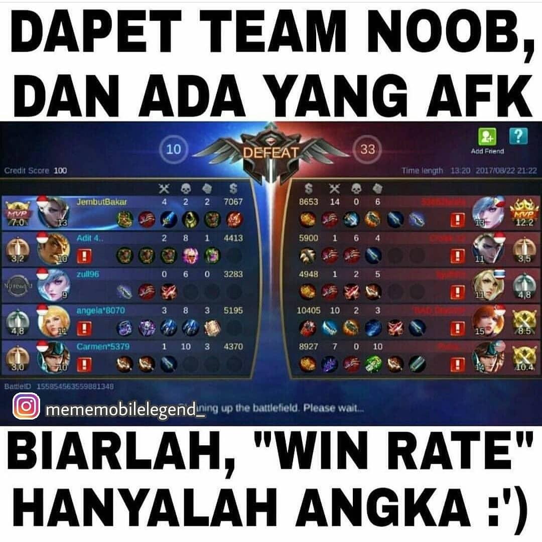 Meme Mobile Legends Noob Win Rate