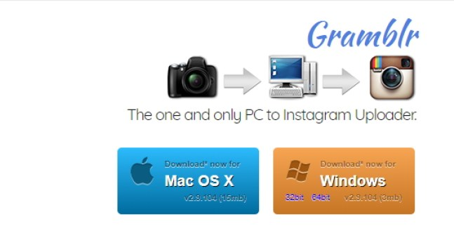 Instagram for PC dengan Aplikasi