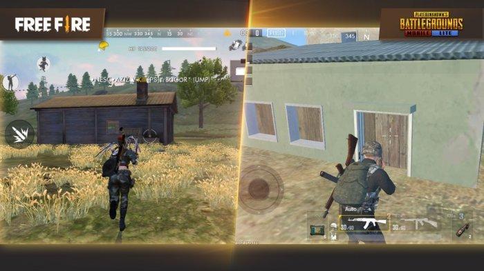 Perbandingan Senjata Free Fire vs PUBG Mobile Lite