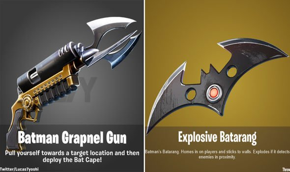 Fortnite x Batman event items
