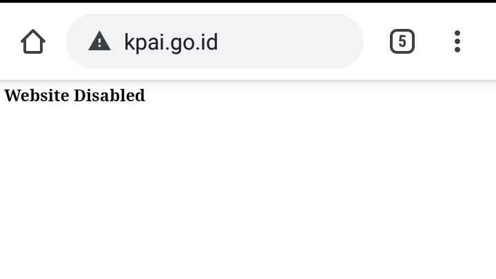 Web Resmi KPAI diretas September 2019