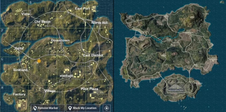 map pubg Mobile & pubg Mobile lite