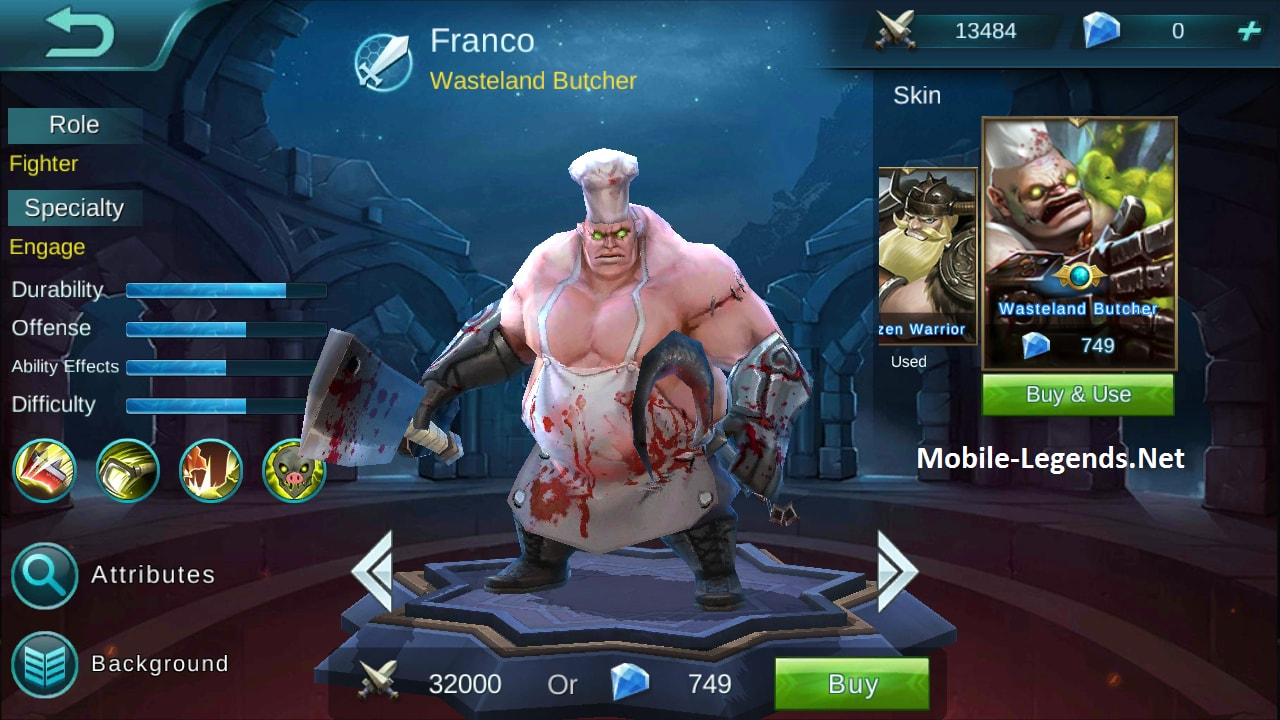 skin Franco - Wasteland Butcher (749 diamond)