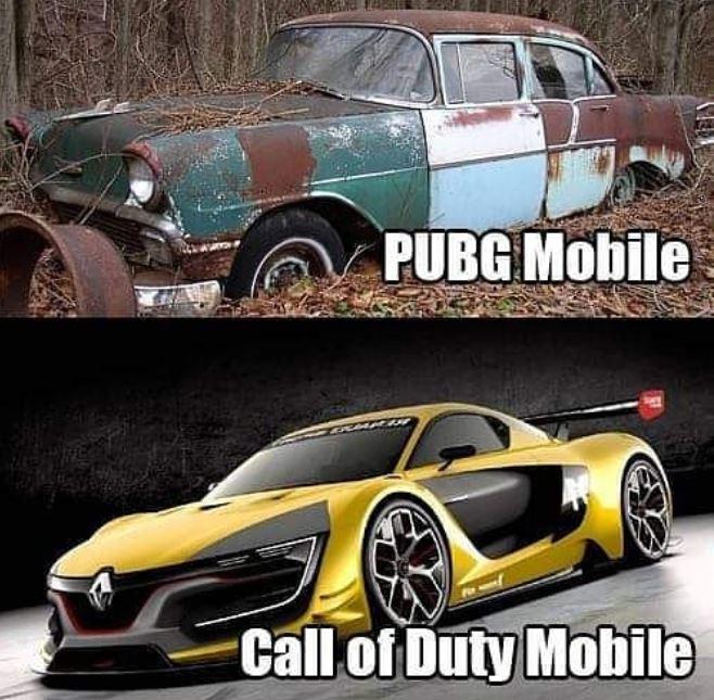 meme cod mobile vs pubgm