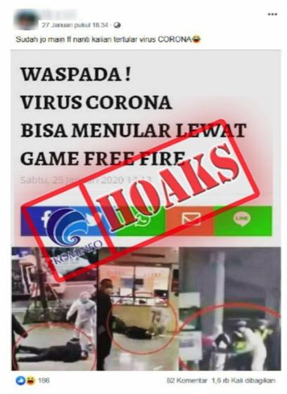 Benarkah Virus Corona Bisa Menular Lewat Free Fire (FF)?