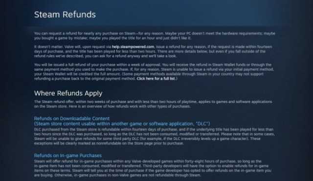 cara syarat-syarat Refund Game di Steam