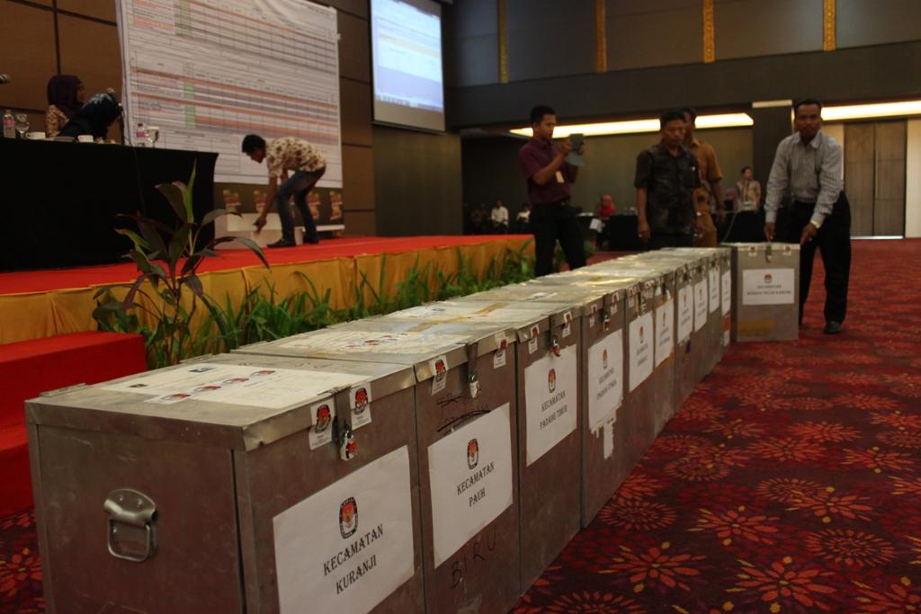 Ilustrasi. Rapat Pleno Rekapitulasi Suara Pilkada Padang putaran kedua di Hotel Grand Inna Muara, Kota Padang. Foto : Istimewa