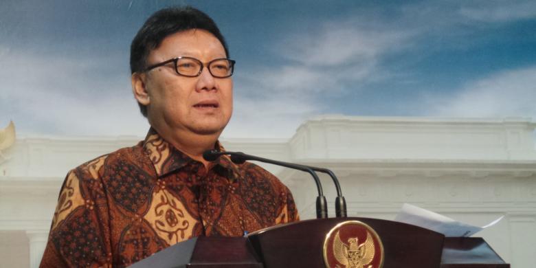 Menteri Dalam Negeri RI, Tjahjo Kumolo. Foto : Kompas