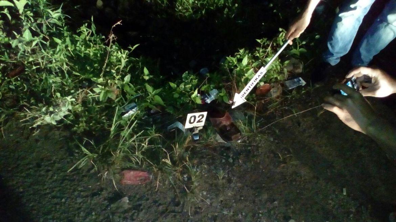 Tempat Kejadian Perkara (TKP) penusukan pelaku terhadap korban di Lubuk Basung, Kabupaten Agam.