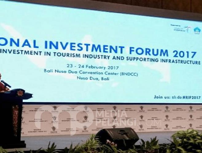Pertemuan Regional Invesment Foroum di Bali beberapa bulan lalu.