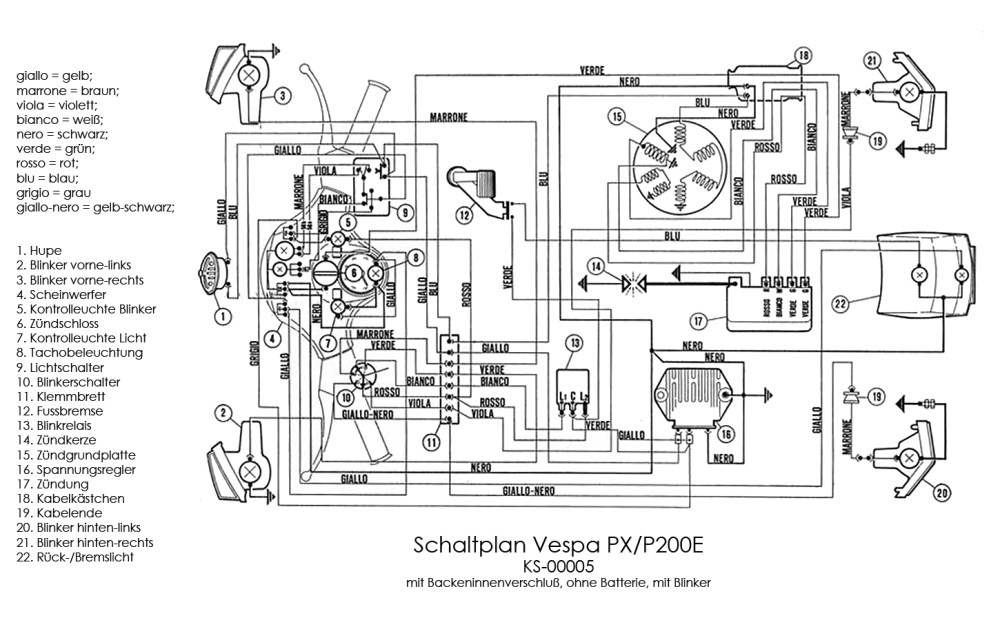 medium resolution of vespa px wiring diagram 23 wiring diagram images electrical schematic boat wiring schematics