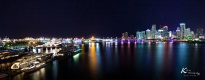 Miami Nachtaufnahmen