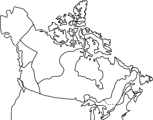 Blank Maps Of Canada For Labelling