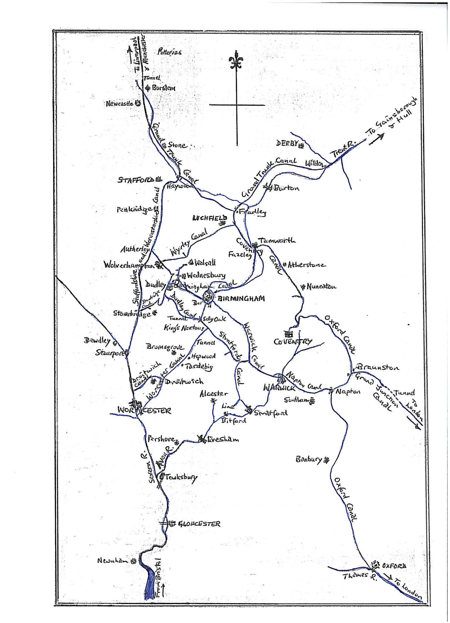 Canal Maps Of England