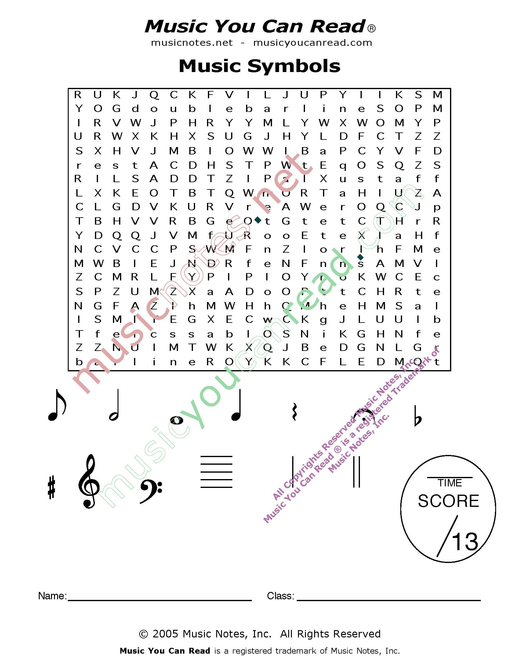 Music Symbols And Notes